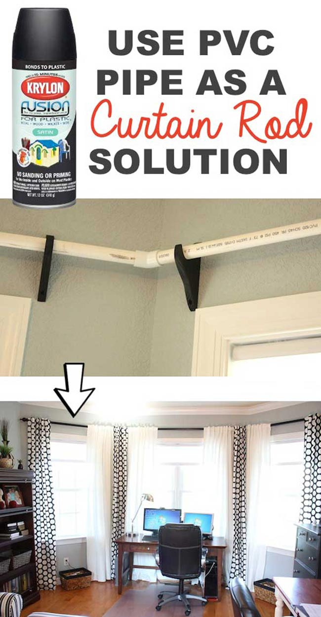 Pvc Pipes Can Be Made Into A Pretty Nice Curtain Rod By Spray Painting