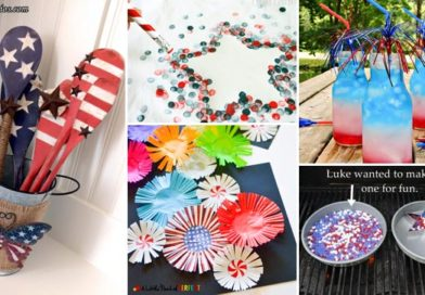 23 Cool DIY Patriotic Decorations and Crafts for Flag Day