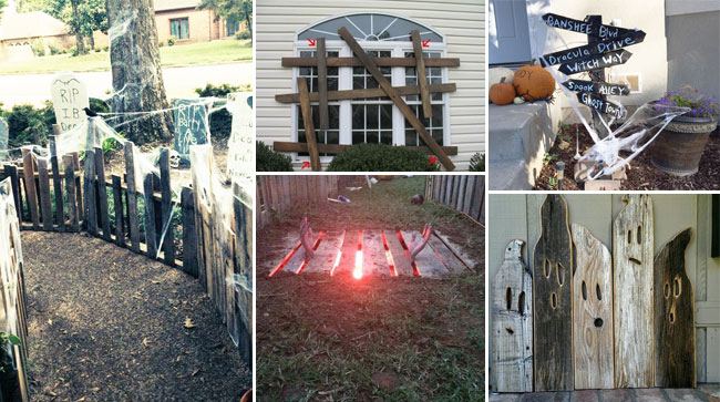 Halloween Yard.Best 17 Halloween Yard Decorations Made With Recycled Pallets